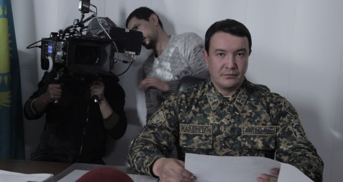 Фото со съемок казахстанского фильма Шестой пост