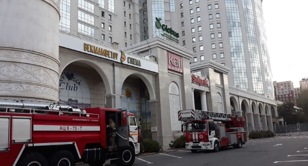 Пожар в ТРЦ Globus