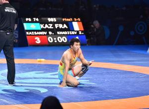 ЧМ по борьбе - финал - Кайсанов (Казахстан) / Хаджиев (Франция)