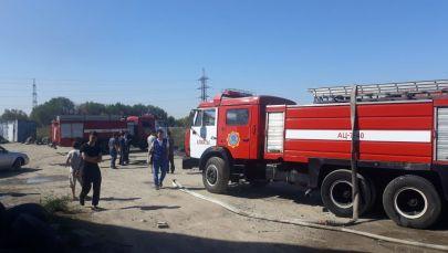 Служба пожаротушения Алматы на месте происшествия
