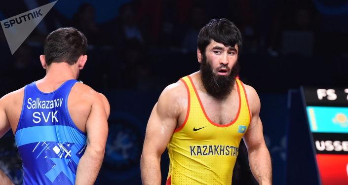 ЧМ по борьбе - финал - Галымжан Усербаев (Казахстан) / Таймураз Салказанов (Словакия)