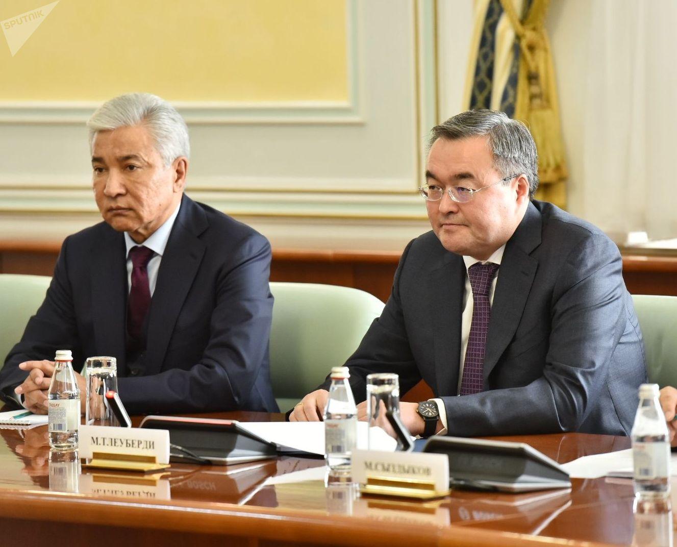 На переговорах министра иностранных дел России Сергея Лаврова с главой МИД Казахстана Мухтаром Тлеуберди