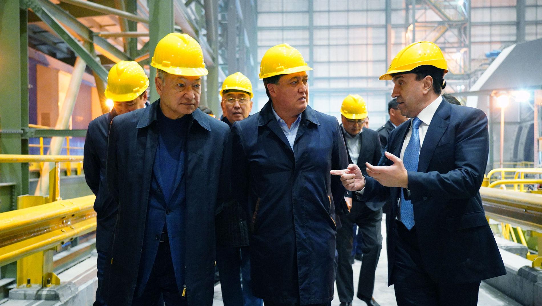 Премьер-министр Казахстана Аскар Мамин ознакомился с работой предприятия, разрабатывающего Актогайский медный рудник