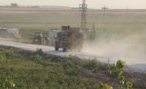 Бронеавтомобиль Kirpi вооруженных сил Турции в районе Акчакале на турецко-сирийской границе