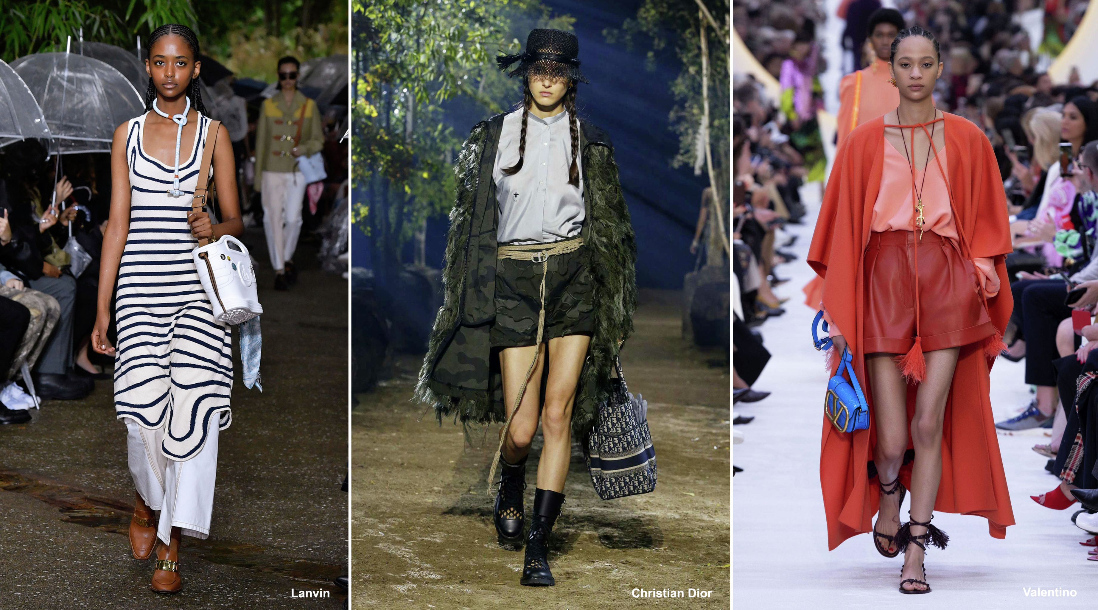 Плетеные аксессуары в весенне-летних коллекциях грядущего сезона Lanvin, Christian Dior и Valentino