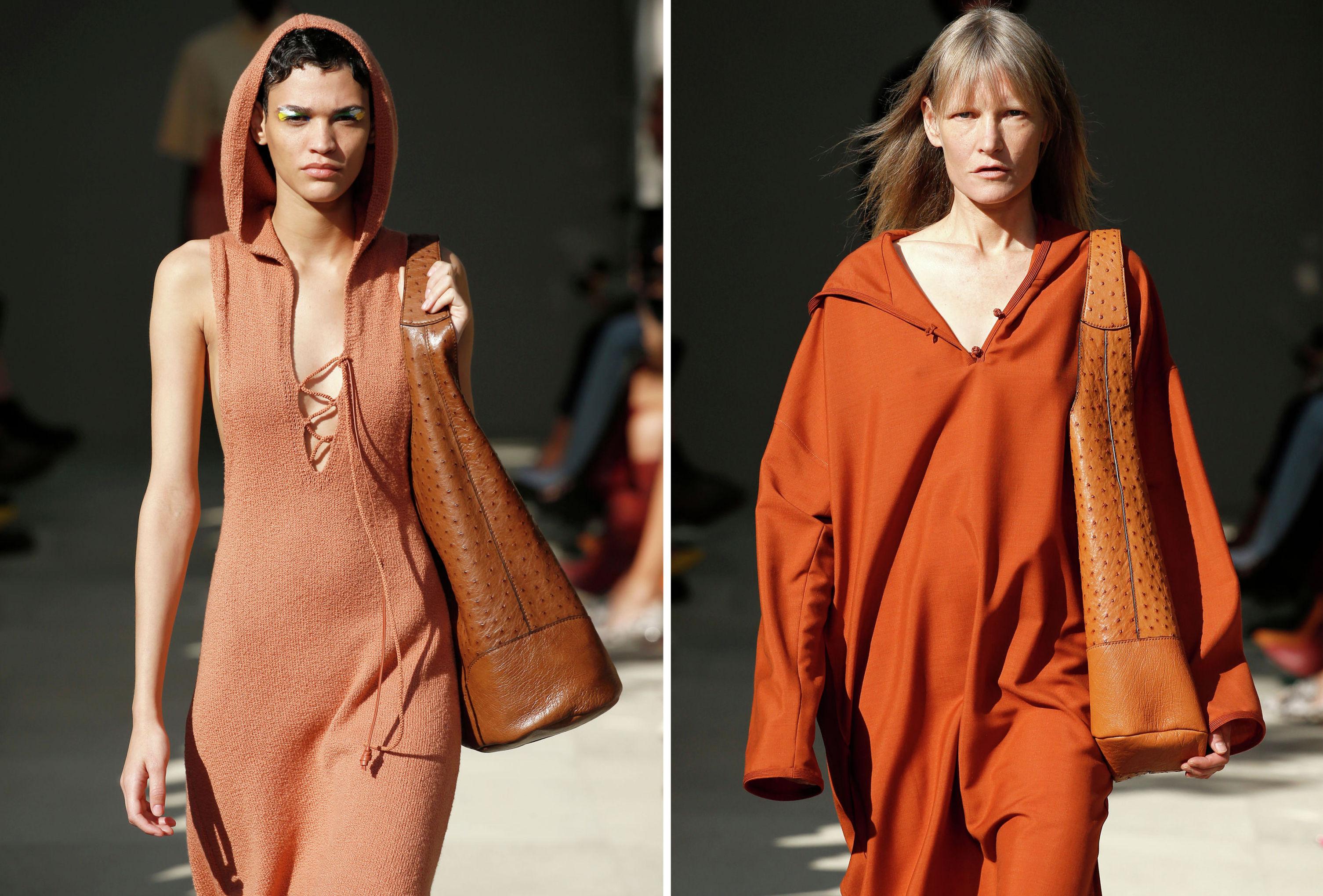 В стиле пилигримов — платья и туники с капюшонами из коллекции Salvatore Ferragamo весна-лето – 2020
