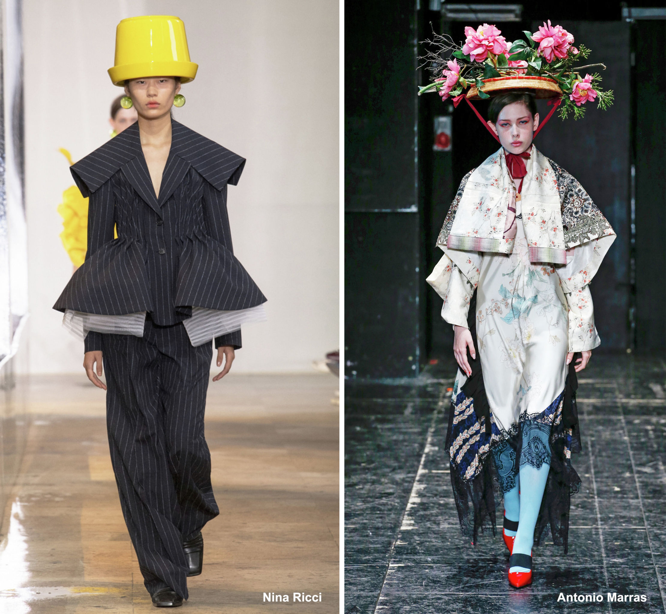 Шляпы для самых смелых модниц в коллекциях Nina Ricci и Antonio Marras, весна-лето – 2020