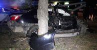 БМВ попал в аварию напротив ТД Адем