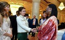 Председатель сената Дарига Назарбаева встретилась с первой леди Буркина-Фасо Аджови Сика Каборе