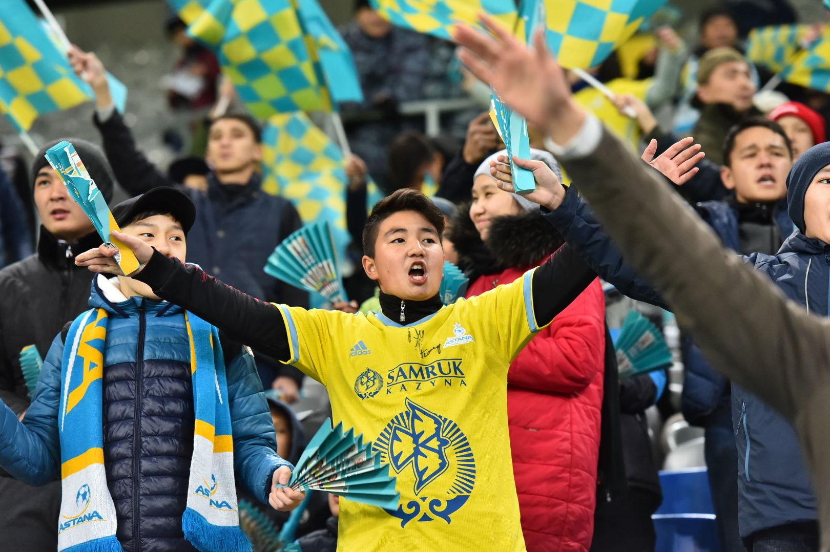 Болельщики на матче КПЛ Кайрат - Астана 20.10.2019