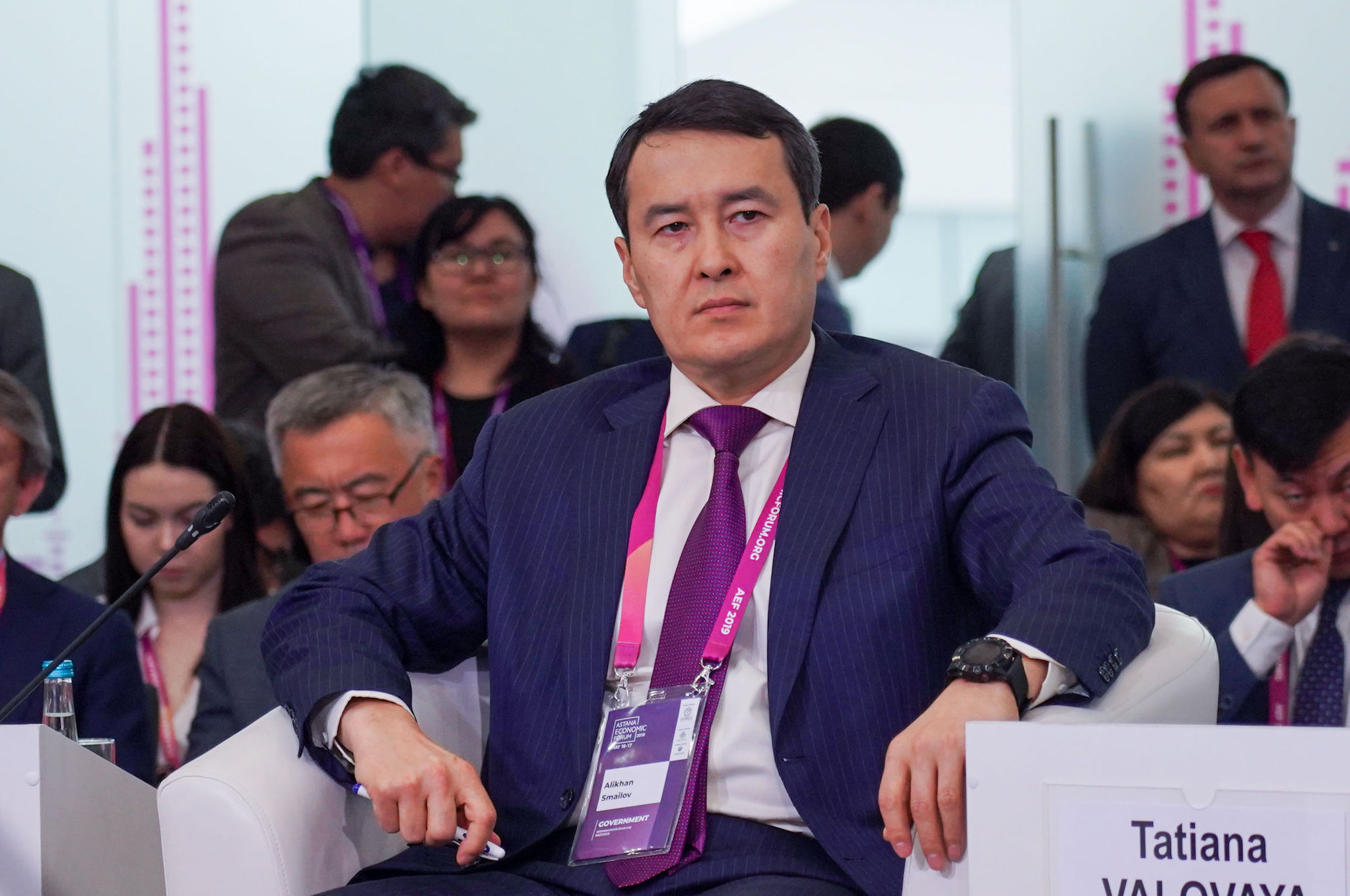 Первый вице-премьер - министр финансов Алихан Смаилов