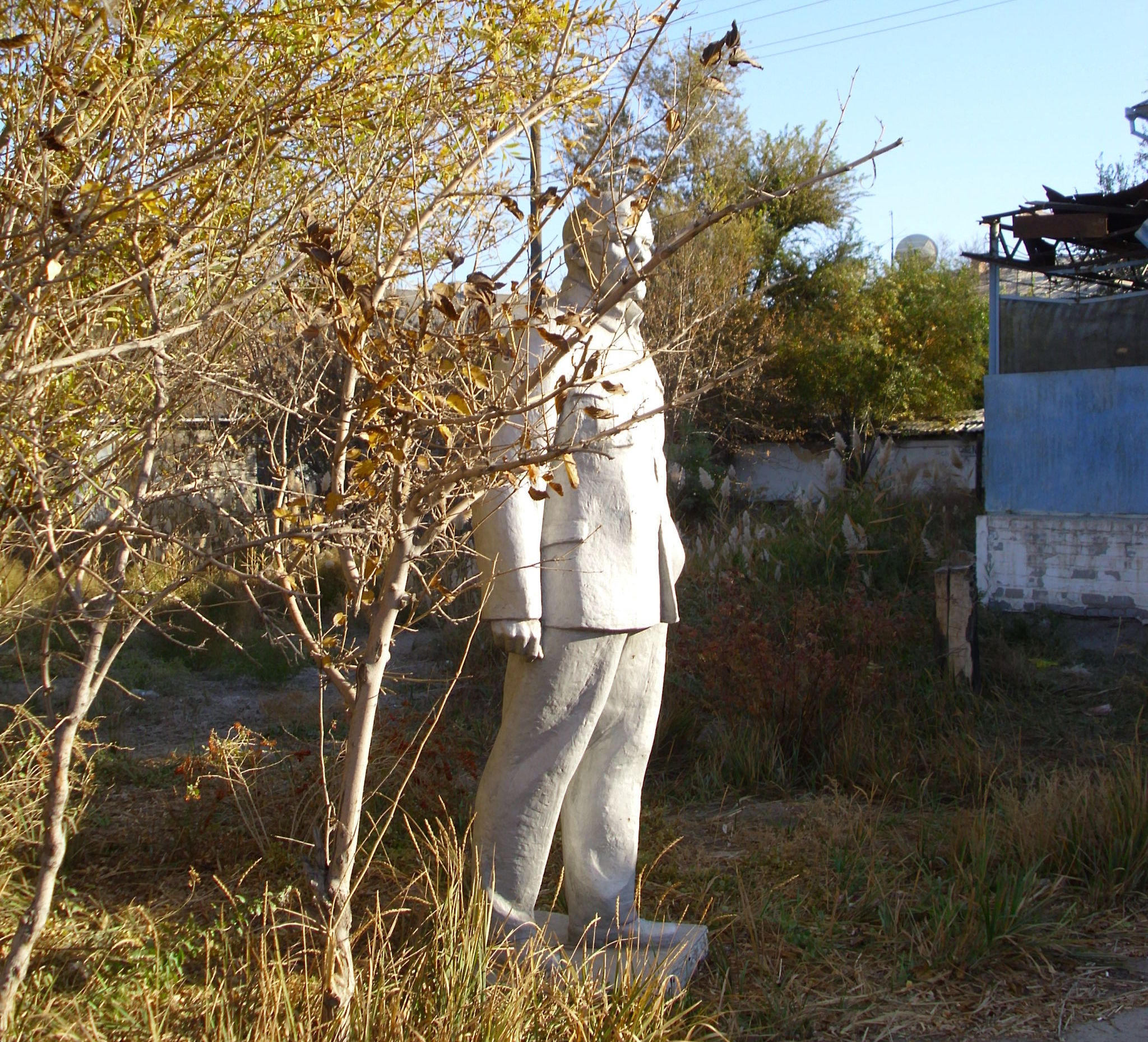 Памятник Ленину в парке Кызылорды