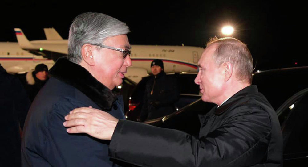 Президент Казахстана Касым-Жомарт Токаев и президент РФ Владимир Путин