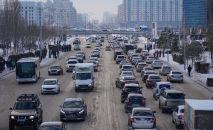 Астананың сол жағалауындағы автокөліктер