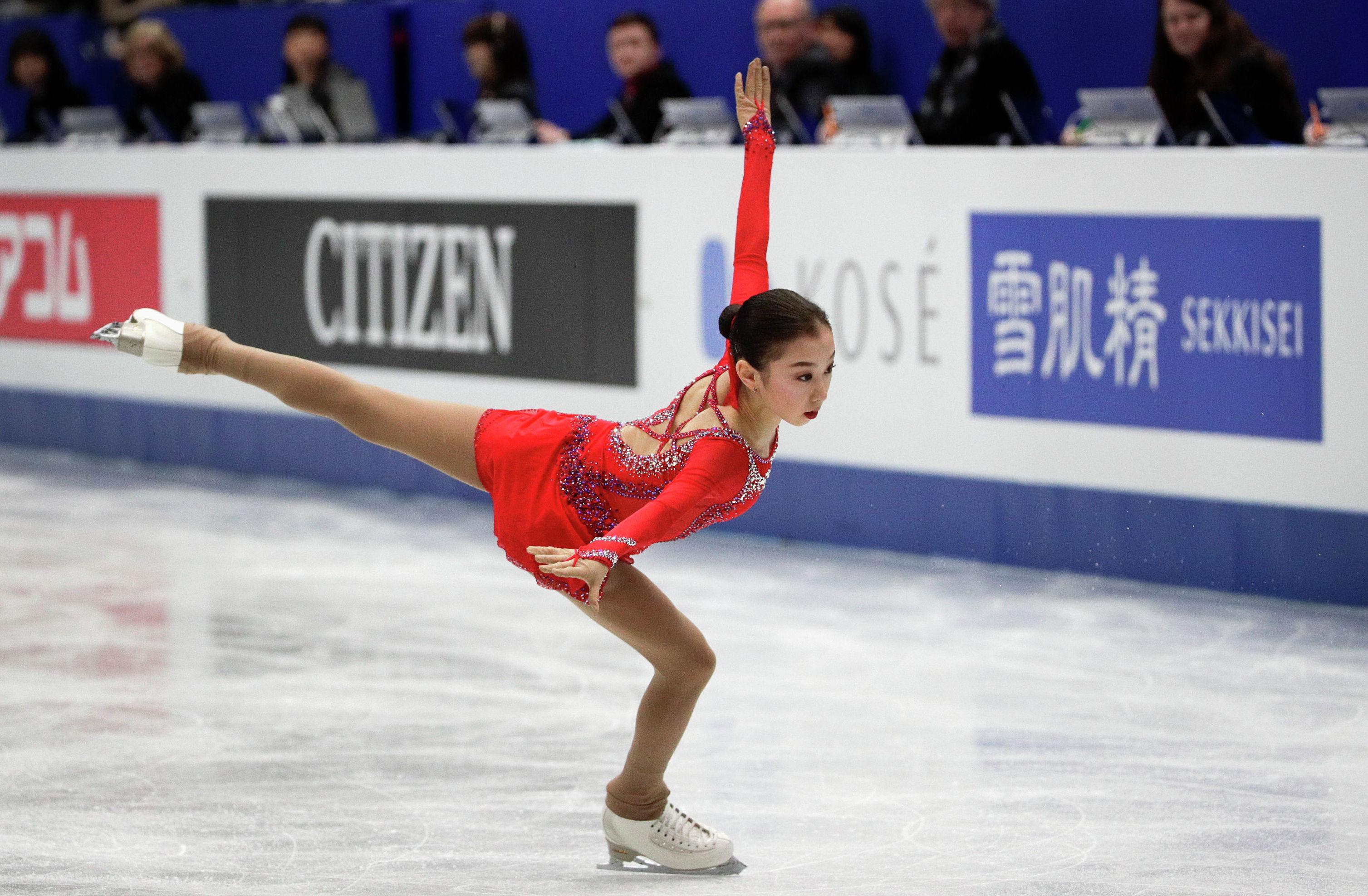 Казахстанская фигуристка Элизабет Турсынбаева