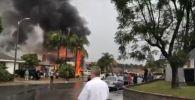 Крушение самолета в городе Йорба-Линда в Калифорнии