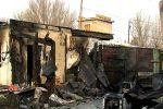 Кадры с места пожара, в котором погибли пятеро детей