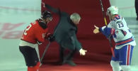 Жозе Моуринью хоккей алаңында құлап түсті - видео