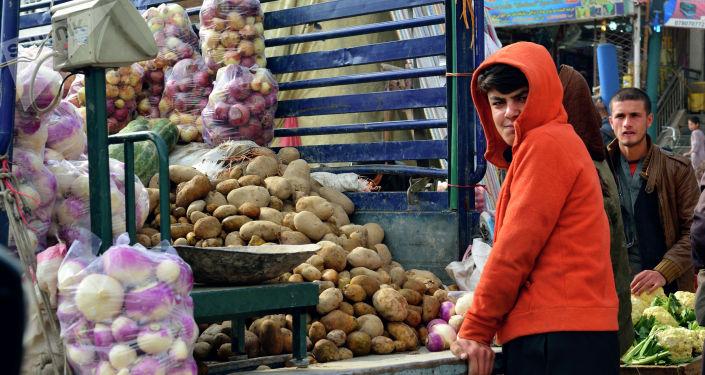 Рыночная торговля в Кабуле