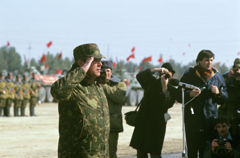 Завершение вывода частей и соединений ограниченного контингента советских войск из Афганистана. Командующий ограниченным контингентом советских войск в Афганистане