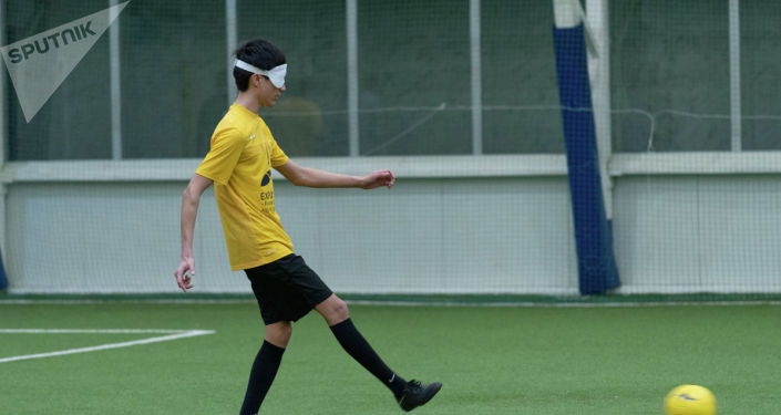 Игроки Kairat Blind Football Team