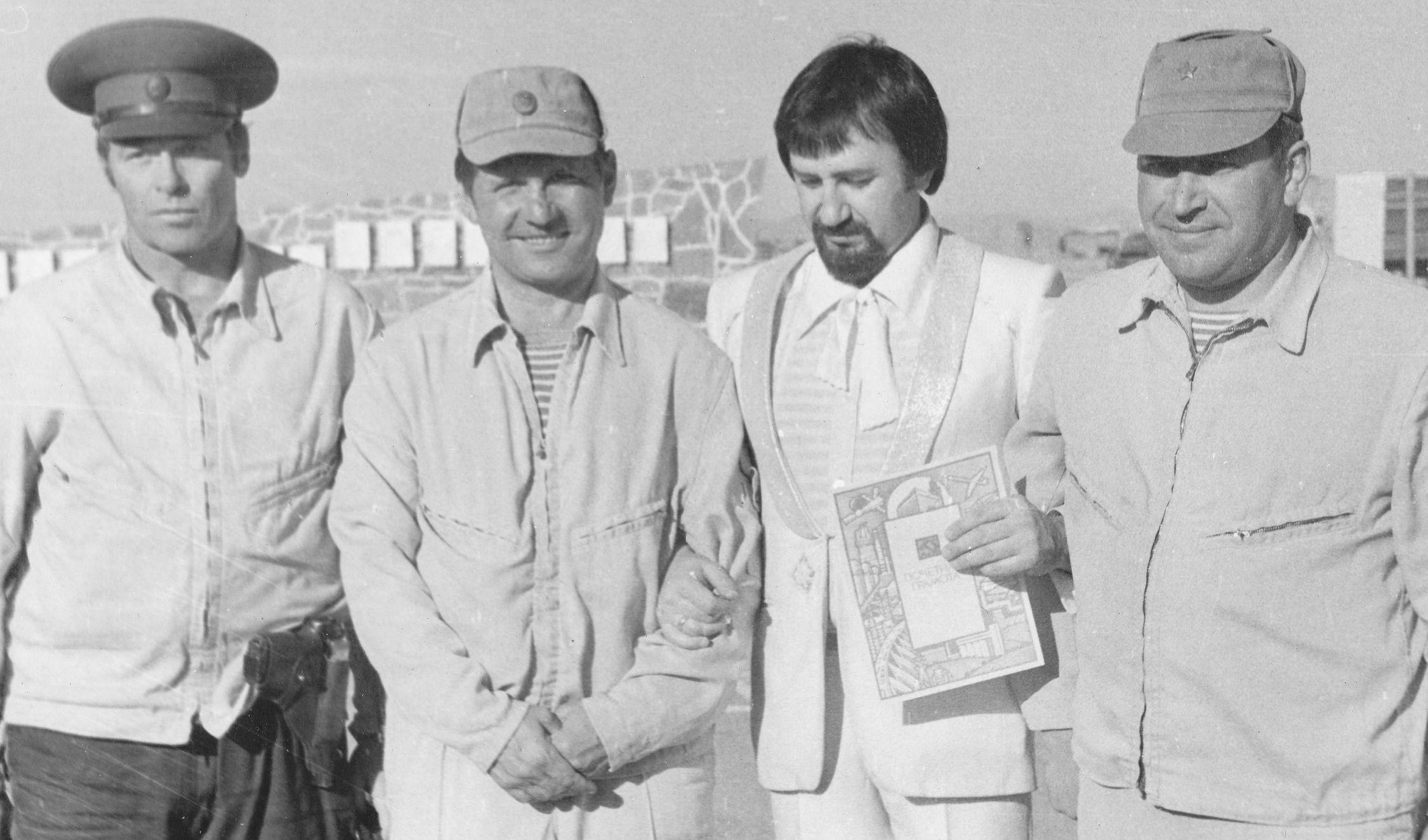 Ансамбль Сябры в Шинданде с офицерами танковой дивизии, 1985 г.