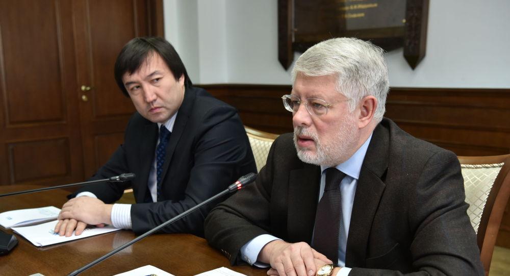 Посол России в Казахстане Алексей Бородавкин на встрече со студентами и преподавателями в ЕНУ