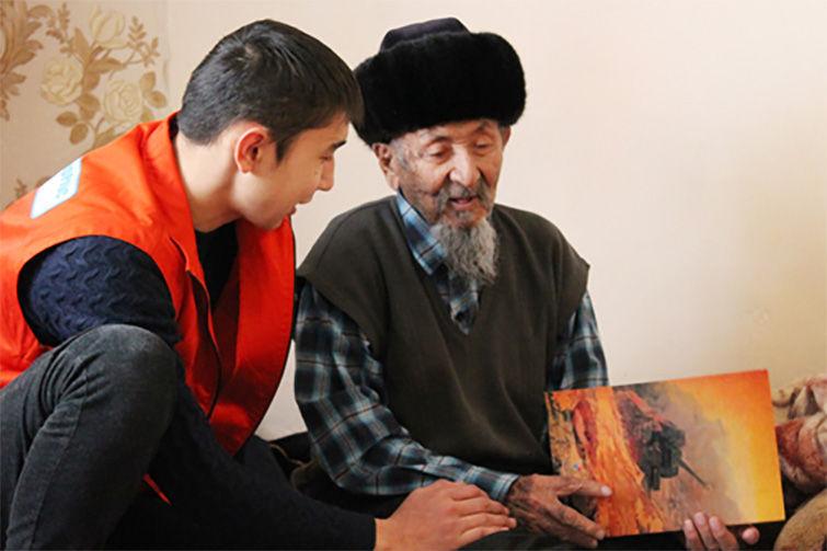 Ветеран Великой Отечественной войны, почетный гражданин города Байконыра Калмырза Жарманов