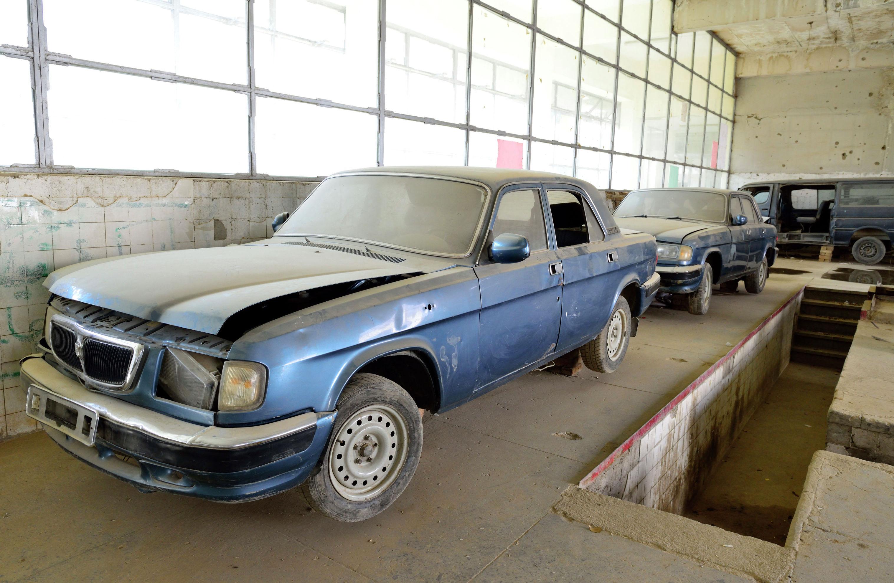 Учебные автомобили Волга Кабульского политехнического института