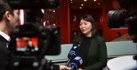 Актриса Самал Еслямова на премьере фильма Айка в Астане