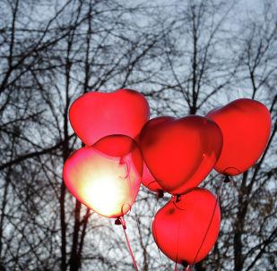 Воздушные шары в виде сердец