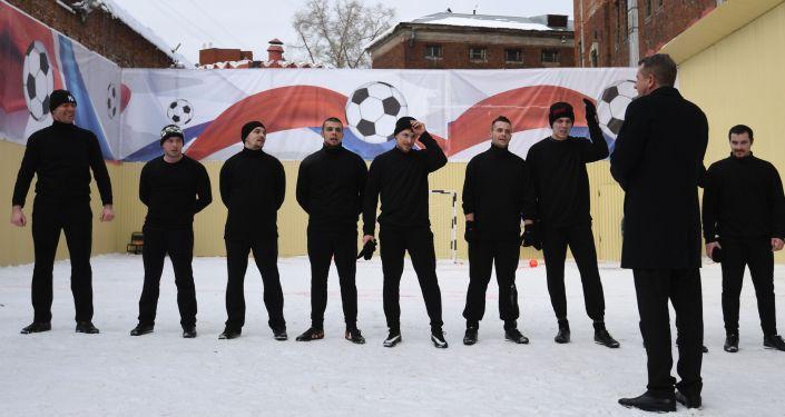 Футбольный матч с участием Павла Мамаева в СИЗО