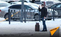 Как обезвредили мужчину, угрожавшего взорвать газовый баллон в центре Астаны - видео