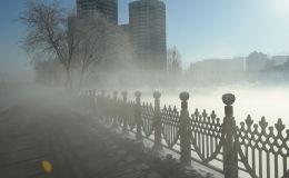 Туман над озером Сайран - видео