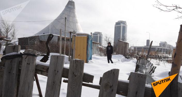 Как жители столицы выживают в трущобах левобережья - видео