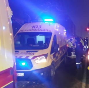 ДТП с участием скорой помощи произошло на пересечении улиц Розыбакиева - Утепова