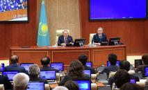 Президент Нурсултан Назарбаев принял участие в пленарном заседании мажилиса парламента