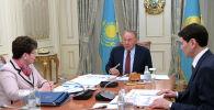 Встреча с председателем Счетного комитета по контролю за исполнением республиканского бюджета Натальей Годуновой