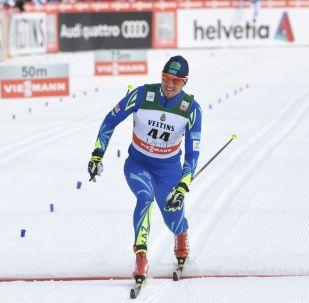 Казахстанский лыжник Алексей Полторанин, архивное фото