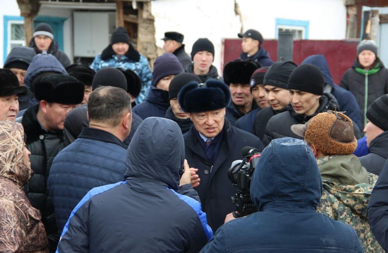 Аким Восточно-Казахстанской области Даниал Ахметов в Аягозе