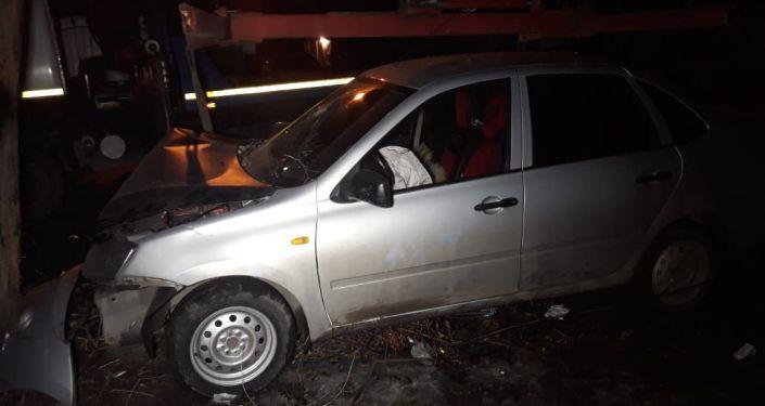 Лада Гранта сбила пешехода в Турксибском районе