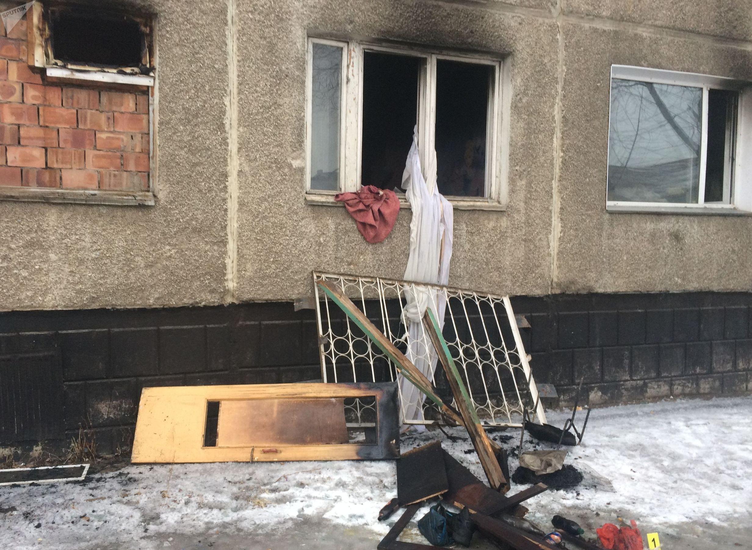 Квартира в жилом доме по адресу ул. Муткенова, 53, где произошел взрыв