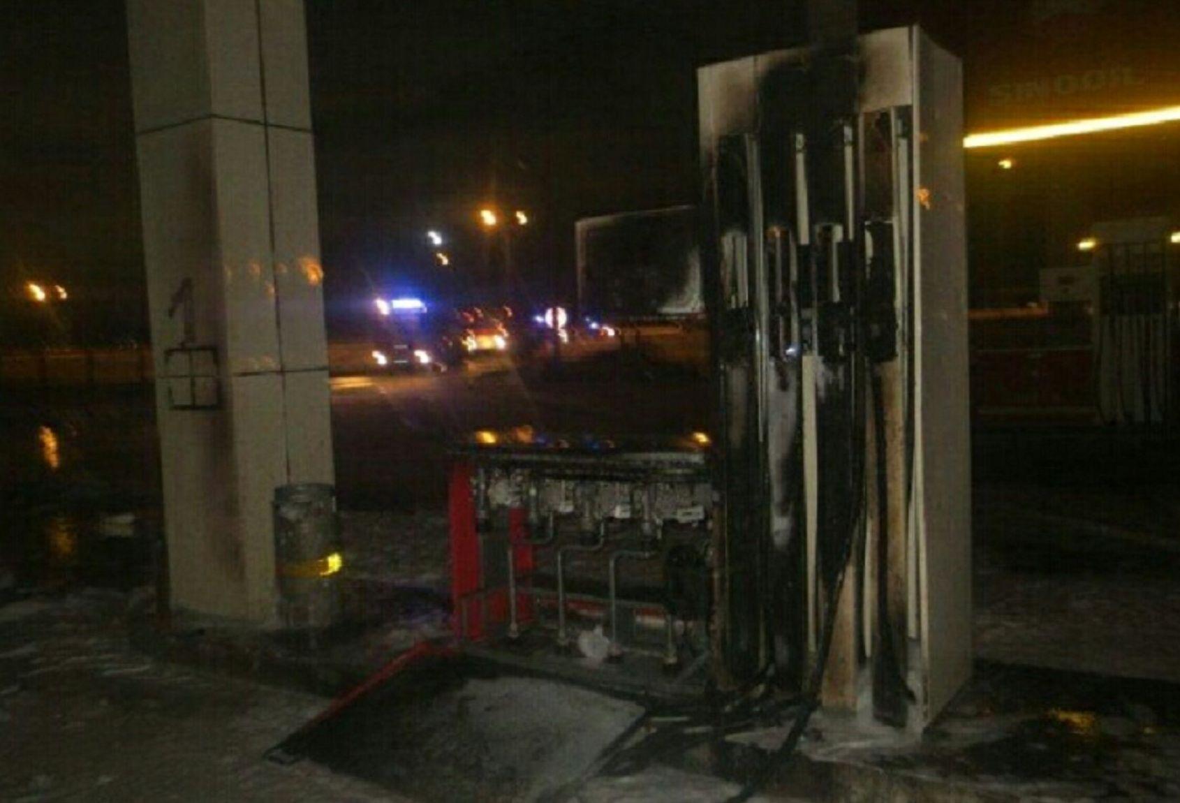 Пожар на АЗС в Астане
