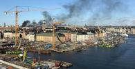 Автобус взорвался в Стокгольме