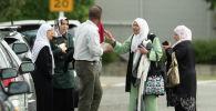 Родственники пострадавших в мечетях Новой Зеландии, где неизвестные устроили стрельбу