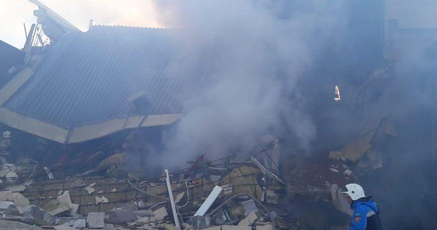 Взрыв произошел в двухэтажном здании компании МолПродуктсервис по шоссе Алаш в Астане
