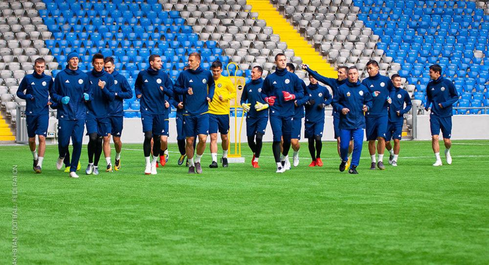 Тренировки сборной Казахстана по футболу