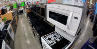 Микроволновые печи в магазине