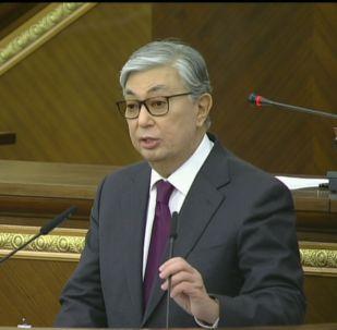Совместное заседание палат парламента после отставки Назарбаева - видеотрансляция