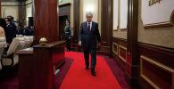 Касым-Жомарт Токаев в ходе совместного заседания палат парламента